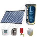 Panou solar ieftin cu boiler bivalent de 300 litri, Pachet cu panou solar cu tuburi vidate, Set panouri solare import China Solariss Iunona