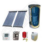 Panou solar ieftin cu tuburi vidate si boiler cu o serpentina, Panou solar china Solariss Iunona, Panouri solare China cu boiler monovalent de 200 litri