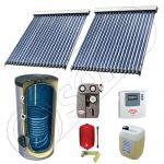 Panouri solare ieftine cu tuburi vidate si boiler cu o serpentina, Panou solar china Solariss Iunona, Panouri solare China cu boiler monovalent de 300 litri