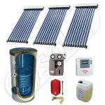 Panou solar ieftin cu tuburi vidate si boiler cu o serpentina, Panou solar china Solariss Iunona, Panouri solare China cu boiler monovalent de 400 litri