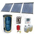 Panouri cu tuburi vidate si boiler Solariss Iunona, Pachet cu panou solar ieftin cu tuburi vidate, Panou solar cu tuburi vidate cu boiler cu 2 serpentine