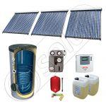 Panouri solare Solariss Iunona, Panou solar China cu tuburi vidate si boiler cu o serpentina, Panouri solare ieftine cu boiler si un schimbator de caldura