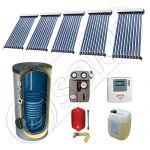 Panou solar ieftin cu tuburi vidate si boiler cu o serpentina, Panouri solare cu boiler monovalent de 500 litri, Panouri solare China Solariss Iunona