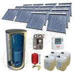 Set panouri solare cu tuburi vidate SIU 14x20-2000.1BM, Panouri cu tuburi vidate cu boiler fabricate in China, Pachet panouri solare si boiler cu o serpentina 2000 litri