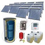 Set panouri solare cu tuburi vidate SIU 14x20-2000.2BM, Panouri cu tuburi vidate cu boiler fabricate in China, Pachet panouri solare si boiler cu doua serpentine 2000 litri