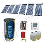 Panouri solare ieftine cu tuburi vidate si boiler SIU 6x10-750.2BM, Panouri solare cu tuburi vidate si boiler 750 litri, Pachete panouri solare cu tuburi vidate import China