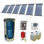 Panouri solare ieftine cu tuburi vidate si boiler SIU 6x10-800.1BM, Panouri solare cu tuburi vidate si boiler 800 litri, Pachete panouri solare cu tuburi vidate import China