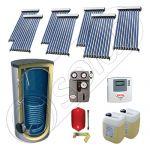 Solariss Iunona pachet panouri solare cu tuburi vidate, Set panouri solare cu tuburi vidate si boiler 750 litri, Pachet panouri solare import China cu tuburi vidate si boiler SIU 7x10-750.1BM