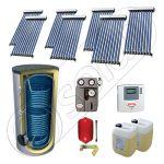 Solariss Iunona pachet panouri solare cu tuburi vidate, Set panouri solare cu tuburi vidate si boiler 750 litri, Pachet panouri solare import China cu tuburi vidate si boiler SIU 7x10-750.2BM