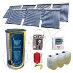 Solariss Iunona pachet panouri solare cu tuburi vidate, Set panouri solare cu tuburi vidate si boiler 1000 litri, Pachet panouri solare import China cu tuburi vidate si boiler SIU 7x18-1000.2BM
