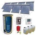 Solariss Iunona pachet panouri solare cu tuburi vidate, Set panouri solare cu tuburi vidate si boiler 1500 litri, Pachet panouri solare import China cu tuburi vidate si boiler SIU 7x18-1500.1BM