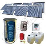 Solariss Iunona set panouri solare si boiler 2000 litri, Seturi panouri solare import China cu boiler SIU 7x22-2000.2BM, Seturi panouri solare cu tuburi vidate si boiler 2000 litri