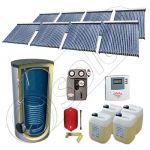 Seturi panouri solare cu tuburi vidate si boiler, Panouri solare import China cu boiler SIU 8x22-1500.1BM, Solariss Iunona pachet panouri solare si boiler 1500 litri