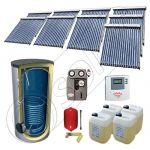 Panouri cu tuburi vidate cu boiler import China, Set panouri solare si boiler cu un schimbator de caldura, Pachet panouri solare cu tuburi vidate SIU 9x18-2000.1BM