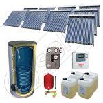 Panouri cu tuburi vidate cu boiler import China, Set panouri solare si boiler cu un schimbator de caldura, Pachet panouri solare cu tuburi vidate SIU 9x20-1500.1BM