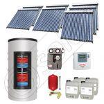 Set panouri solare tuburi vidate cu boiler instant SIU 7x20-1500.80.3BI, Set colectoare solare cu boiler instant 1500 litri, Colectoare solare cu tuburi vidate la set cu boiler instant 1500 litri