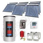 Set panouri solare tuburi vidate cu boiler instant SIU 8x20-1500.80.3BI, Set colectoare solare cu boiler instant 1500 litri, Colectoare solare cu tuburi vidate la set cu boiler instant 1500 litri