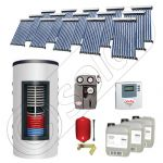 Pachet panouri solare si boiler instant SIU 15x10-1500.80.2BI, Pachet colectoare solare cu boiler instant 1500 litri, Colectoare solare cu tuburi vidate fabricate in China