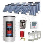 Pachet panouri solare si boiler instant SIU 15x10-1500.80.3BI, Pachet colectoare solare cu boiler instant 1500 litri, Colectoare solare cu tuburi vidate fabricate in China
