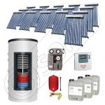 Pachet panouri solare si boiler instant SIU 16x10-1500.80.2BI, Pachet colectoare solare cu boiler instant 1500 litri, Colectoare solare cu tuburi vidate fabricate in China