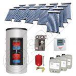 Pachet panouri solare si boiler instant SIU 16x10-1500.80.3BI, Pachet colectoare solare cu boiler instant 1500 litri, Colectoare solare cu tuburi vidate fabricate in China