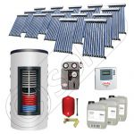 Pachet panouri solare si boiler instant SIU 17x10-1500.80.2BI, Pachet colectoare solare cu boiler instant 1500 litri, Colectoare solare cu tuburi vidate fabricate in China