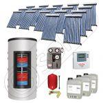 Pachet panouri solare si boiler instant SIU 17x10-1500.80.3BI, Pachet colectoare solare cu boiler instant 1500 litri, Colectoare solare cu tuburi vidate fabricate in China