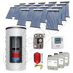 Pachet panouri solare si boiler instant SIU 18x10-1500.80.2BI, Pachet colectoare solare cu boiler instant 1500 litri, Colectoare solare cu tuburi vidate fabricate in China