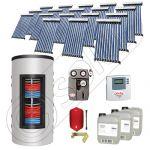 Pachet panouri solare si boiler instant SIU 18x10-1500.80.3BI, Pachet colectoare solare cu boiler instant 1500 litri, Colectoare solare cu tuburi vidate fabricate in China