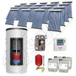 Pachet panouri solare si boiler instant SIU 19x10-1500.80.2BI, Pachet colectoare solare cu boiler instant 1500 litri, Colectoare solare cu tuburi vidate fabricate in China