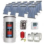 Pachet panouri solare si boiler instant SIU 19x10-1500.80.3BI, Pachet colectoare solare cu boiler instant 1500 litri, Colectoare solare cu tuburi vidate fabricate in China
