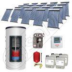 Pachet panouri solare si boiler instant SIU 20x10-1500.80.2BI, Pachet colectoare solare cu boiler instant 1500 litri, Colectoare solare cu tuburi vidate fabricate in China