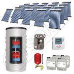 Pachet panouri solare si boiler instant SIU 20x10-1500.80.3BI, Pachet colectoare solare cu boiler instant 1500 litri, Colectoare solare cu tuburi vidate fabricate in China