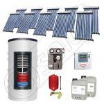 Set colectoare solare cu tuburi vidate fabricate in China, Pachete panouri solare si boiler instant SIU 10x10-1000.66.2BI, Seturi colectoare solare cu boiler instant 1000 litri
