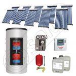 Set colectoare solare cu tuburi vidate fabricate in China, Pachete panouri solare si boiler instant SIU 10x10-1000.66.3BI, Seturi colectoare solare cu boiler instant 1000 litri