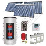 Set colectoare solare cu tuburi vidate fabricate in China, Pachete panouri solare si boiler instant SIU 3x30-1000.66.3BI, Seturi colectoare solare cu boiler instant 1000 litri