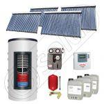 Set colectoare solare cu tuburi vidate fabricate in China, Pachete panouri solare si boiler instant SIU 4x30-1000.66.2BI, Seturi colectoare solare cu boiler instant 1000 litri