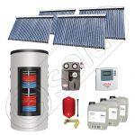 Set colectoare solare cu tuburi vidate fabricate in China, Pachete panouri solare si boiler instant SIU 4x30-1000.66.3BI, Seturi colectoare solare cu boiler instant 1000 litri