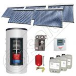 Set colectoare solare cu tuburi vidate fabricate in China, Pachete panouri solare si boiler instant SIU 5x30-1000.66.2BI, Seturi colectoare solare cu boiler instant 1000 litri