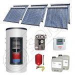 Set colectoare solare cu tuburi vidate fabricate in China, Pachete panouri solare si boiler instant SIU 6x20-1000.66.2BI, Seturi colectoare solare cu boiler instant 1000 litri