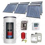 Set colectoare solare cu tuburi vidate fabricate in China, Pachete panouri solare si boiler instant SIU 7x20-1000.66.2BI, Seturi colectoare solare cu boiler instant 1000 litri