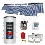 Colectoare solare cu tuburi vidate import China, Seturi panouri solare si boiler instant SIU 5x30-1500.80.2BI, Seturi colectoare solare cu tuburi vidate si boiler instant 1500 litri