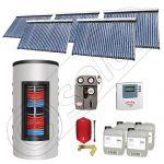 Colectoare solare cu tuburi vidate import China, Seturi panouri solare si boiler instant SIU 5x30-1500.80.3BI, Seturi colectoare solare cu tuburi vidate si boiler instant 1500 litri