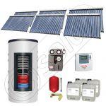 Colectoare solare cu tuburi vidate import China, Seturi panouri solare si boiler instant SIU 6x30-1500.80.2BI, Seturi colectoare solare cu tuburi vidate si boiler instant 1500 litri