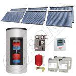 Colectoare solare cu tuburi vidate import China, Seturi panouri solare si boiler instant SIU 6x30-1500.80.3BI, Seturi colectoare solare cu tuburi vidate si boiler instant 1500 litri