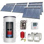 Colectoare solare cu tuburi vidate import China, Seturi panouri solare si boiler instant SIU 7x30-1500.80.2BI, Seturi colectoare solare cu tuburi vidate si boiler instant 1500 litri