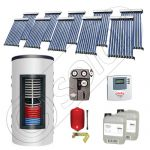 Panouri solare cu tuburi vidate import China, Seturi colectoare solare si boiler instant SIU 10x10-800.43.2BI, Set colectoare solare cu tuburi vidate si boiler instant 800 litri