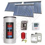 Panouri solare cu tuburi vidate import China, Seturi colectoare solare si boiler instant SIU 3x30-800.43.3BI, Set colectoare solare cu tuburi vidate si boiler instant 800 litri