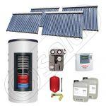 Panouri solare cu tuburi vidate import China, Seturi colectoare solare si boiler instant SIU 4x30-800.43.2BI, Set colectoare solare cu tuburi vidate si boiler instant 800 litri