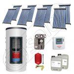 Panouri solare cu tuburi vidate import China, Seturi colectoare solare si boiler instant SIU 8x10-800.43.2BI, Set colectoare solare cu tuburi vidate si boiler instant 800 litri